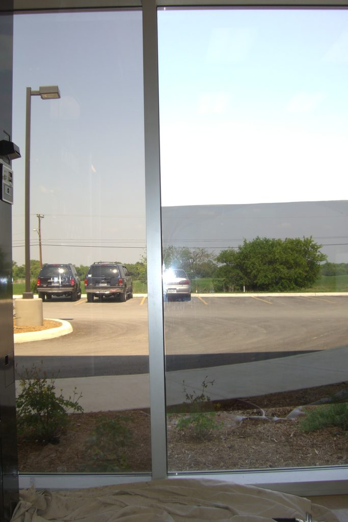 Niche film LEFT/ Competitor (sample) on RIGHT/ Top right clear glass